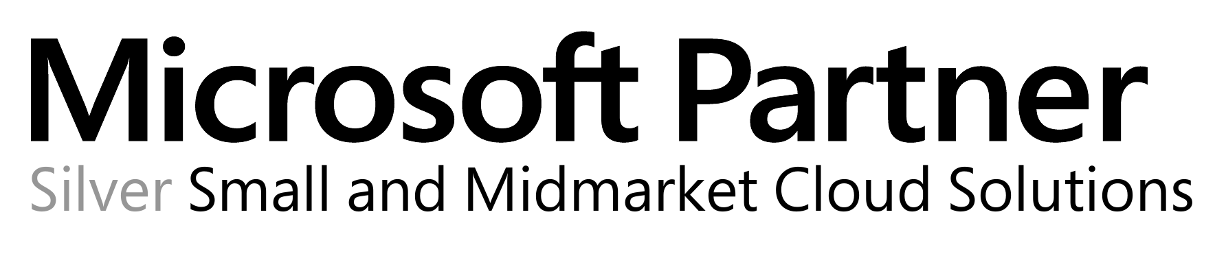 Microsoft Partner Logo (Silver Small and Medmarket Cloud Solutions)